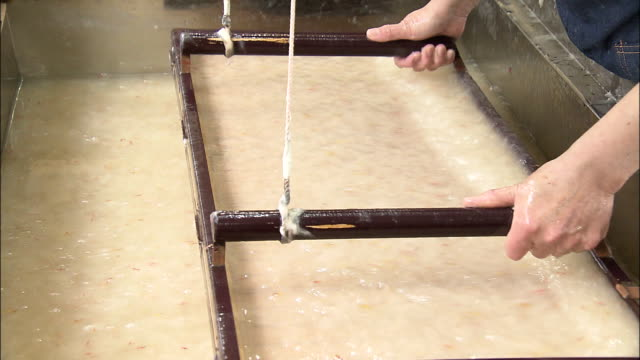 traditional papermaking, japan - paper mill stock videos and b-roll footage