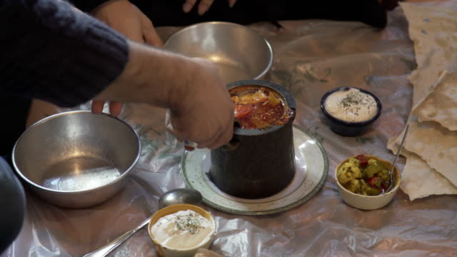traditional persian dish - tehran stock videos & royalty-free footage
