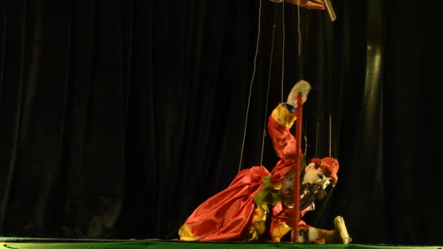 traditional puppet show in ananada festival, bagan, myanmar - puppet stock videos & royalty-free footage