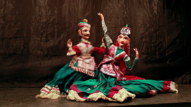 Traditional Rajasthan puppet show, Delhi, India