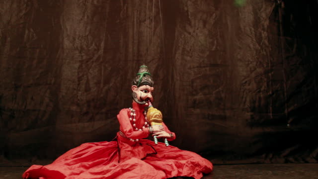 traditional rajasthan puppet show, delhi, india - puppet stock videos and b-roll footage