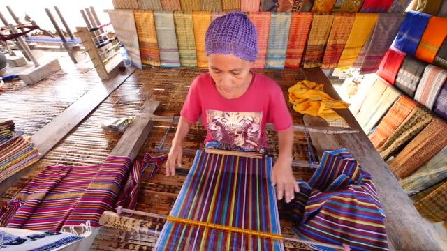 traditional sade village, lombok. - souvenir stock videos & royalty-free footage