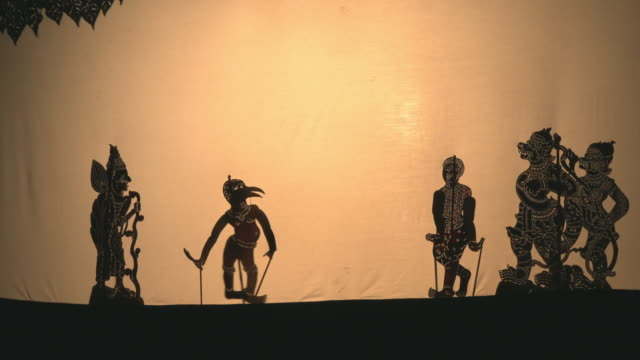 traditional shadow puppet theatre - puppentheater figur stock-videos und b-roll-filmmaterial