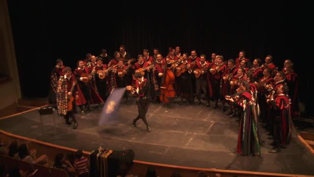 vídeos y material grabado en eventos de stock de ms traditional singer from spain university audio / sevilla, andalusia, spain        - tradición