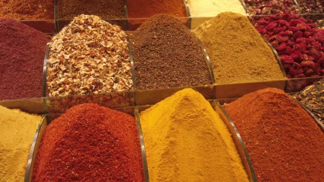 traditional spice shop in an old bazaar in turkey - istanbul stock videos & royalty-free footage