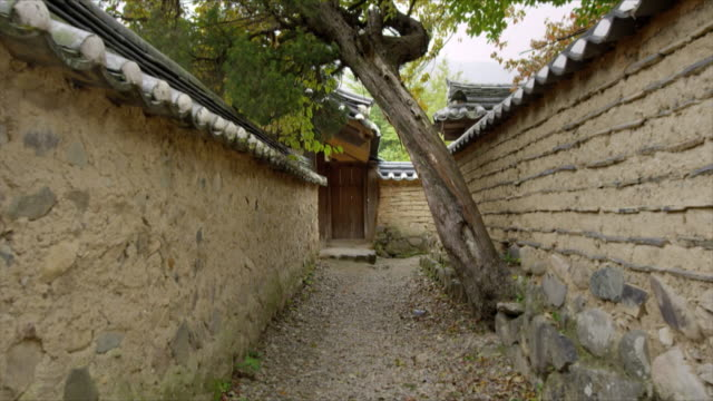 Traditional stone wall at Yangdong folk village(UNESCO World Heritage Site)
