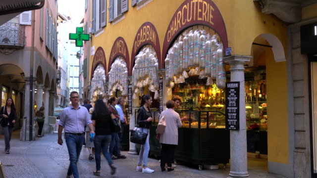 Traditional store in the town of Lugano, in the Italian part of Switzerland.