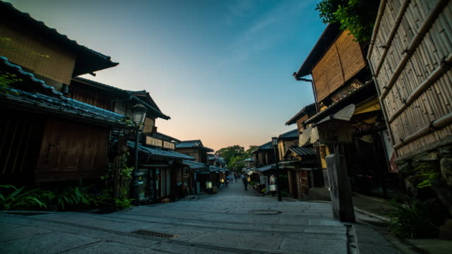 Traditional street time lapse in Kyoto 4K