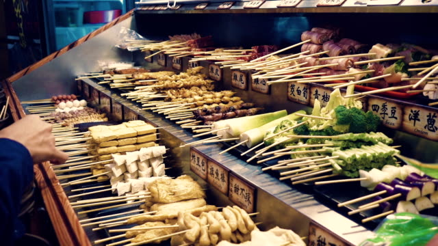 traditional taiwan street food. - taiwan stock videos and b-roll footage