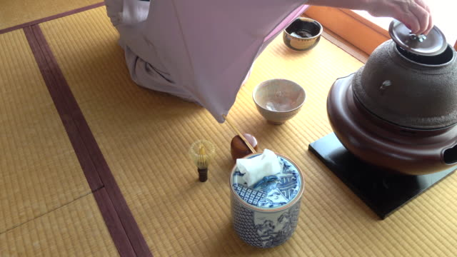 """vídeos y material grabado en eventos de stock de ceremonia del té tradicional """" sado""""  1 granel 5/12-k - sado"""