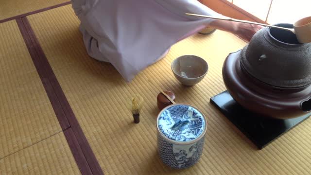 """vídeos y material grabado en eventos de stock de ceremonia del té tradicional """" sado""""  1 a granel 8/12-k - sado"""