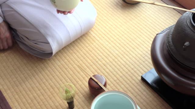 """vídeos y material grabado en eventos de stock de ceremonia del té tradicional """" sado""""  2 a granel 4/4-4 k - sado"""