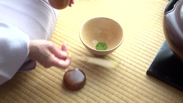 """vídeos y material grabado en eventos de stock de ceremonia del té tradicional """" sado""""  3 granel 1/3 o 4 k - sado"""