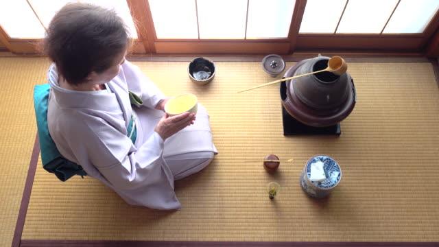 """vídeos y material grabado en eventos de stock de ceremonia del té tradicional """" sado""""  4 a granel 7/12-k - sado"""