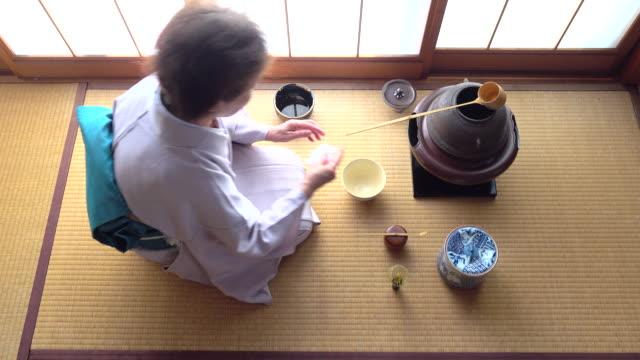 """vídeos y material grabado en eventos de stock de ceremonia del té tradicional """" sado""""  4 a granel 8/12-k - sado"""