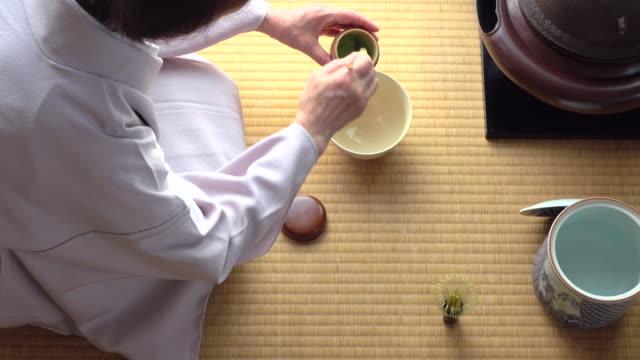"""vídeos y material grabado en eventos de stock de ceremonia del té tradicional """" sado""""  5 granel 1/4-4 k - sado"""
