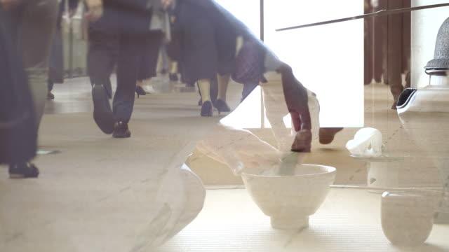 """vidéos et rushes de cérémonie traditionnelle de thé """"sado"""" - céramique"""
