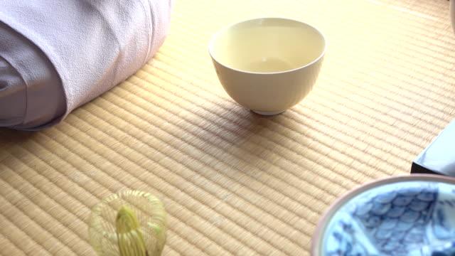 "traditional tea ceremony ""sado"" - tea ceremony stock videos and b-roll footage"