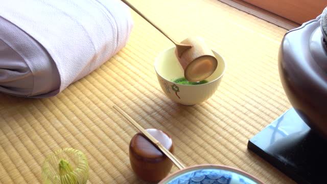 """vídeos y material grabado en eventos de stock de ceremonia del té tradicional """" sado"""" - sado"""