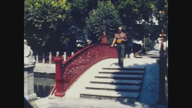 traditional thai building in 70's - pagoda stock videos & royalty-free footage