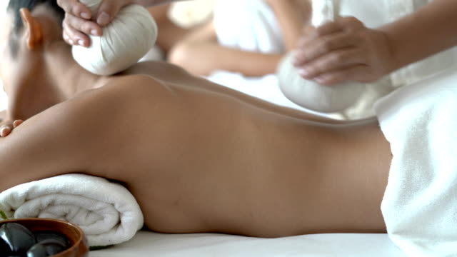 Traditional Thai herbal ball compress massage
