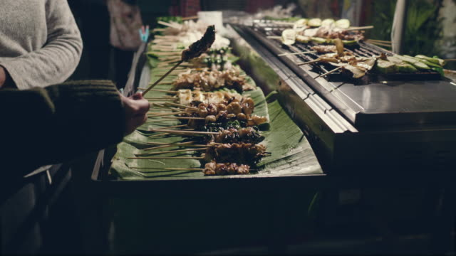 traditional thailand street food. - school fete stock videos and b-roll footage