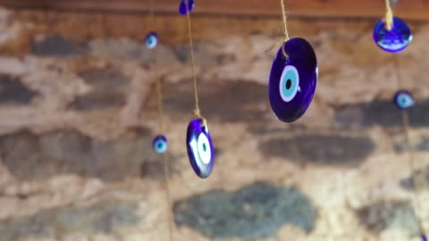 traditional turkish amulets, evil eye - luck stock videos & royalty-free footage