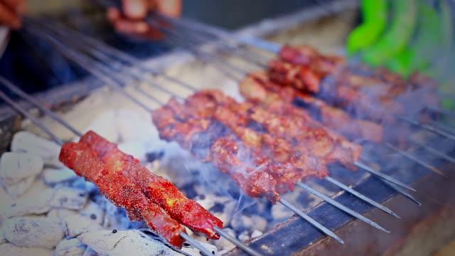 traditional turkish food - kebab stock videos and b-roll footage