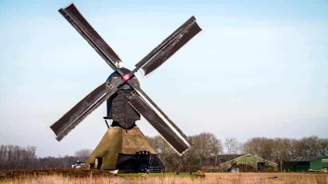 Traditional turning Windmill in the Netherlands