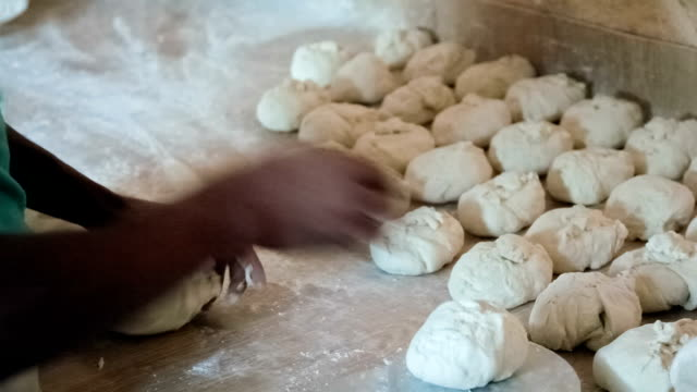 traditional way of making flat bread - tortilla flatbread stock videos & royalty-free footage