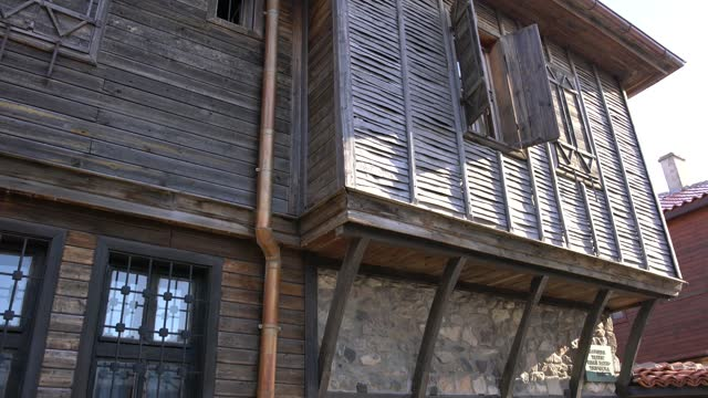 traditional wooden architecture dominating the old town of sozopol, bulgaria - pavel gospodinov stock videos & royalty-free footage