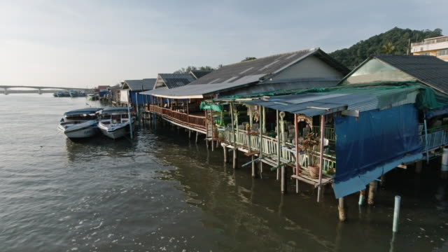 traditional wooden stilt houses - thailand stock videos & royalty-free footage