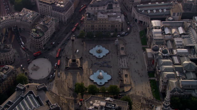 Trafalgar Square  - Aerial View - England, Greater London, City of Westminster, United Kingdom