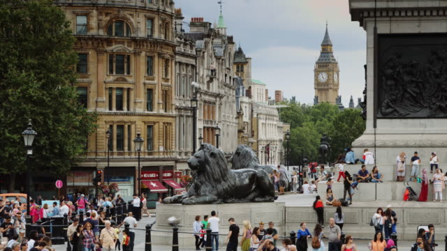 Trafalgar Square and Big Ben, London