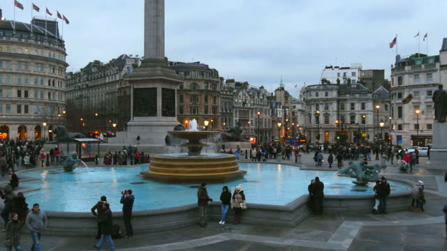 trafalgar square, london, england, great britain - nelson's column stock videos and b-roll footage