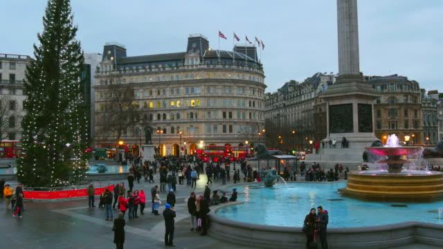 trafalgar square, london, england, great britain - day stock-videos und b-roll-filmmaterial