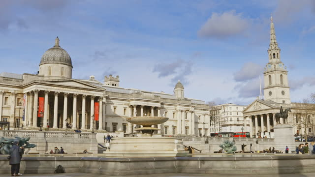 trafalgar square london in winter - christianity stock videos & royalty-free footage