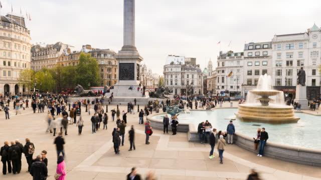 Trafalgar Square, London, time lapse at day