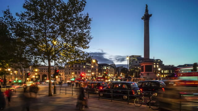 Trafalgar Square London Time lapse.