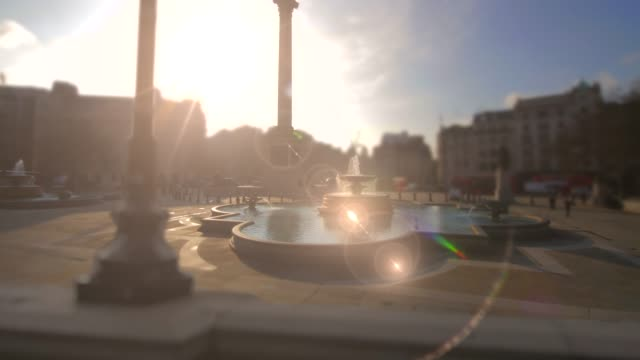trafalgar square, london time-lapse. 4k - nelson's column stock videos and b-roll footage