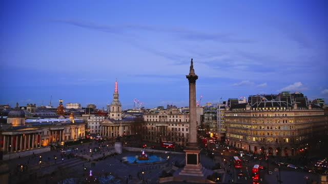 trafalgar square london - trafalgar square stock videos & royalty-free footage