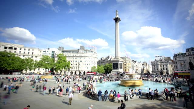 trafalgar square, london - trafalgar square stock videos & royalty-free footage