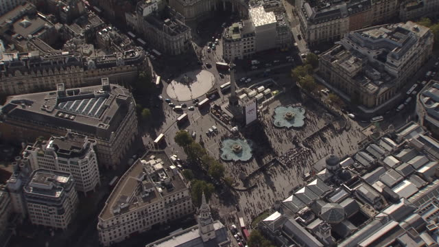 Trafalgar Square & Nelson's Column Overview by Helicopter