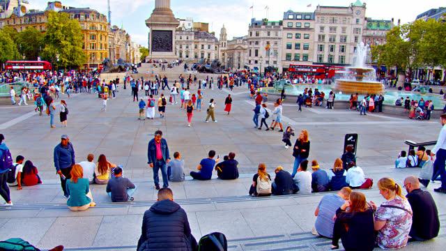 trafalgar square. relax. people - editorial stock videos & royalty-free footage