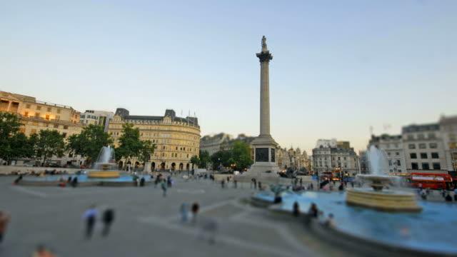 Trafalgar square time-lapse. Miniature scale
