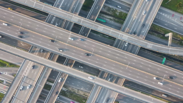 traffic above view,timelapse - ora di punta video stock e b–roll