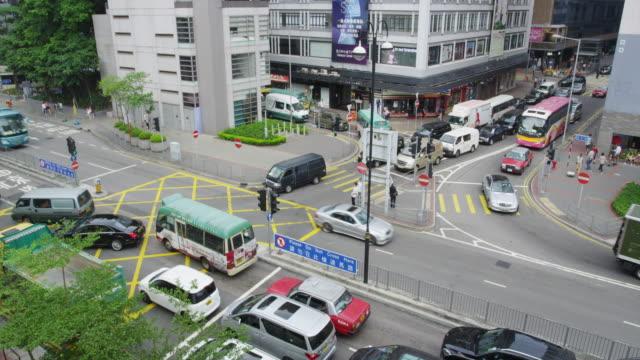 traffic accident in tsim sha tsui - tsim sha tsui stock videos & royalty-free footage