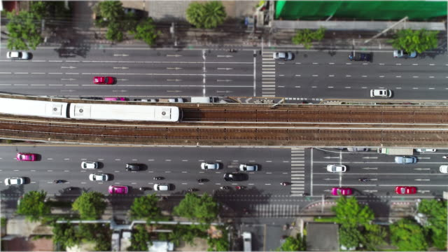traffic aerial. - railway track stock videos & royalty-free footage