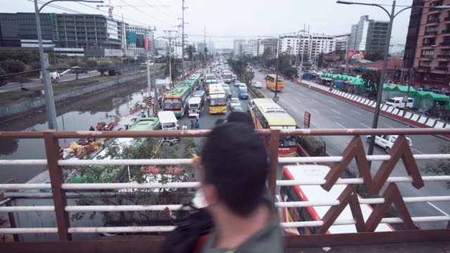traffic and commuter in manila, philippines - philippines stock videos & royalty-free footage