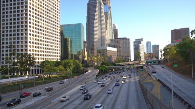 Verkehr und die Innenstadt von Los Angeles Kalifornien